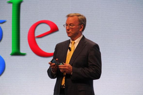 谷歌董事长埃里克・施密特(Eric Schmidt)出席了发布会。