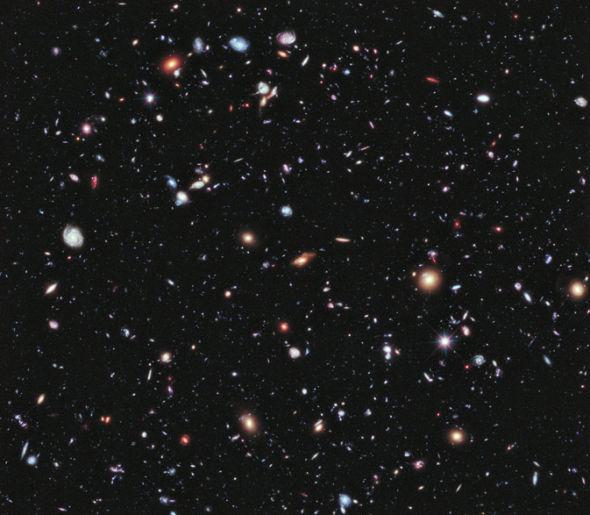 这是哈勃望远镜在2009年时完成的哈勃超深场图像