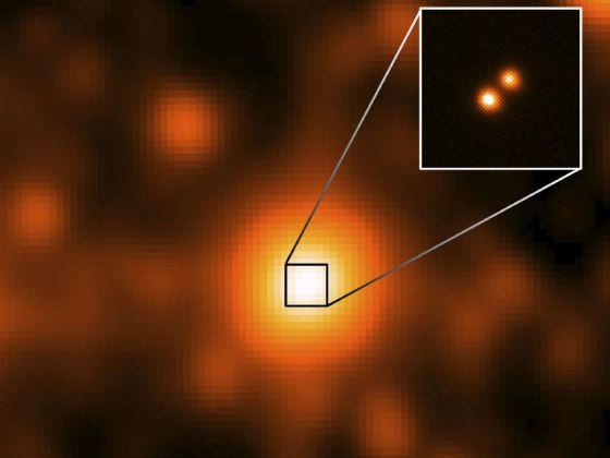 这张图像中央位置便是此次新发现的双褐矮星系统WISE J104915.57-531906,数据显示其距离仅有大约6.5光年,从而成为距离太阳系第三近的恒星,也是1916年来人类发现的距离最近的恒星