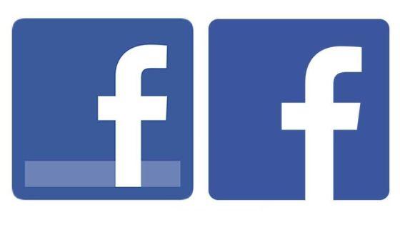 Facebook旧logo(左)及新logo(右)