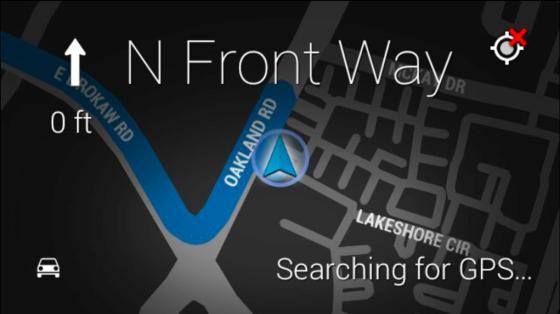 实时语音导航需要Wifi支持(谷歌眼镜自带GPS芯片)