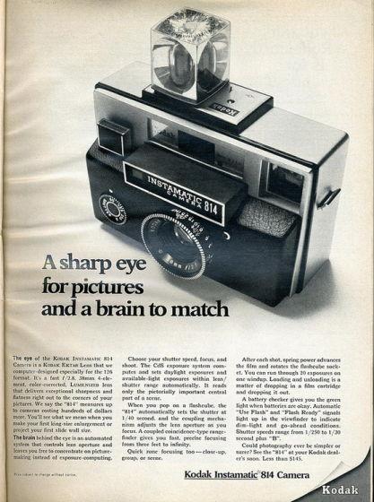 Kodak Instamatic 814 Camera - 1969