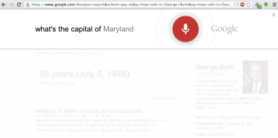 最新版Chrome浏览器增加了全新的语音搜索功能