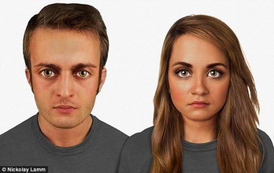 科学家预测未来10万年人脸特征变化:眼睛奇大