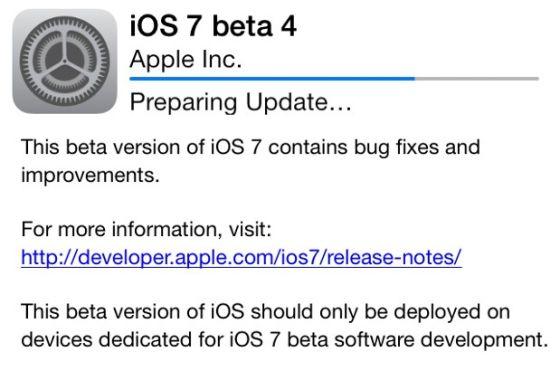 苹果公司发布iOS 7 beta4