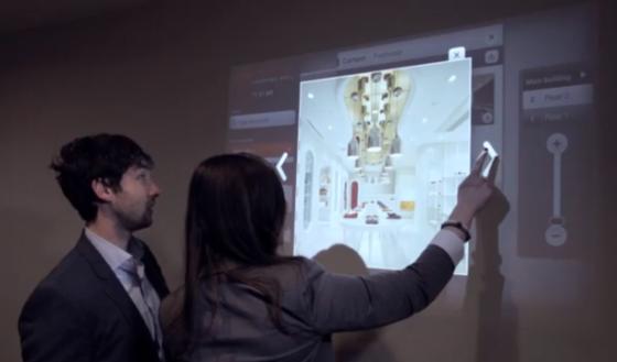 创业公司Ubi利用Kinect for Windows开发了一款触控产品。
