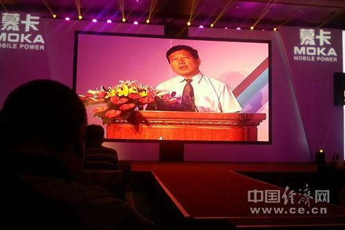 图为中国通信工业协会会长王秉科。