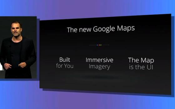 来自Google地图部门的高级设计师在旧金山召开的Roadmap 2013大会上