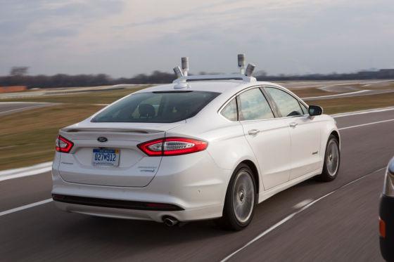 福特首款自动驾车汽车原型车