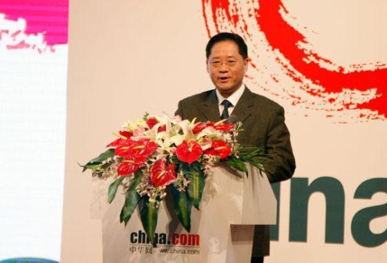 1月18日下午,中华网多语种全媒体平台启动仪式在北京举办。图为中国国际广播电台王庚年台长致辞