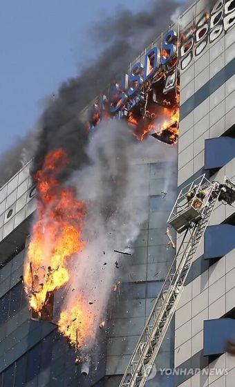 三星SDS大楼发生火灾