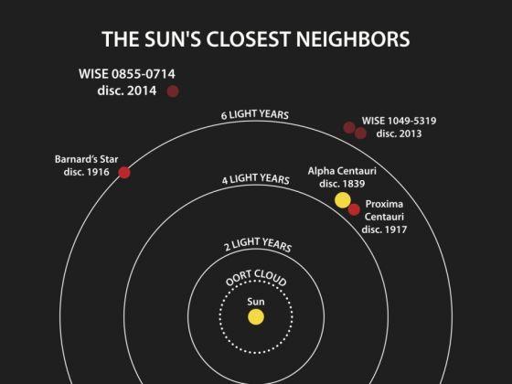 这张示意图展示的是迄今已知距离太阳最近的天体系统