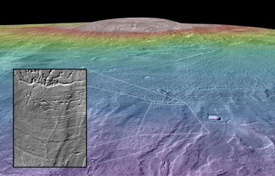 科学家最新研究表明,火星第三大火山阿尔西亚山附近区域,在相对较近的过去,可能是火星表面一处生命宜居点。