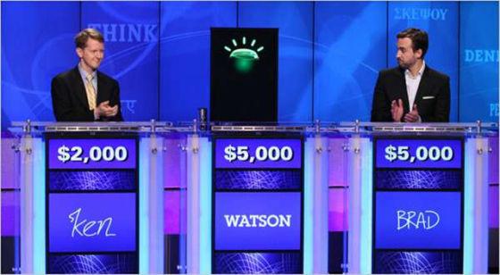 IBM的沃森与真人一起参加美国的一档智力竞赛节目《危险边缘》