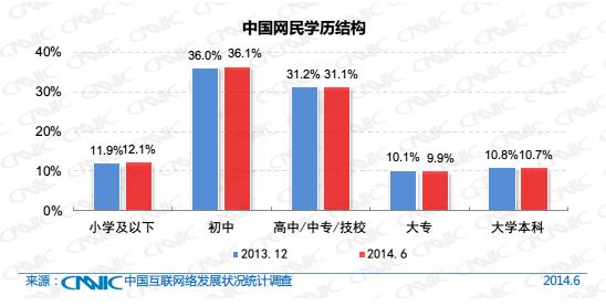 中国网民学历结构