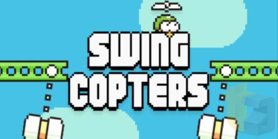 《Flappy Bird》官方续集《Swing Copters》