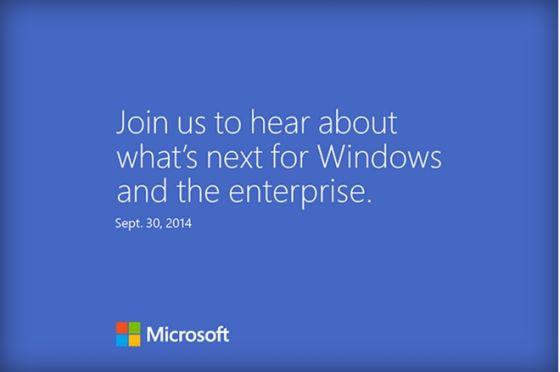 微软宣布9月30日于旧金山召开Windows发布会