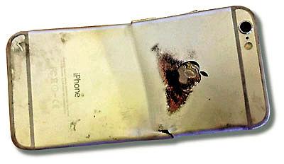 iPhone6碰撞起火烧伤用户大腿