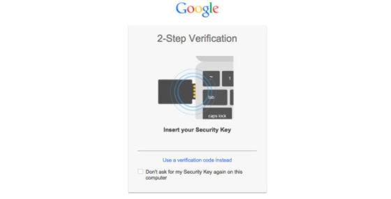 """谷歌推""""安全密钥""""账号安全保护服务"""