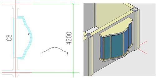 浩辰cad建筑2011支持圆弧墙开异型窗洞
