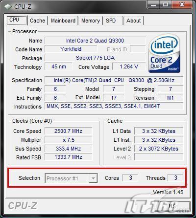 """4减1大于3英特尔""""三核""""CPU趣味测试"""