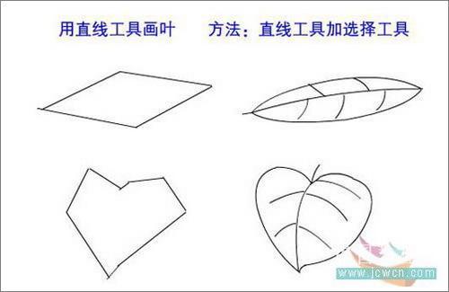 树叶铅笔画步骤图解