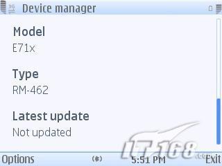 E71软件升级诺基亚E71x屏幕截图曝光