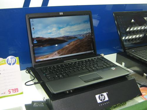 酷睿2双核惠普160G硬盘本HP540卖3700元