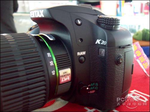 搭配16-45mm镜头宾得K20D售价7800元