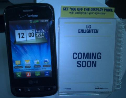 侧滑全键盘 智能LG Enlighten上市在即