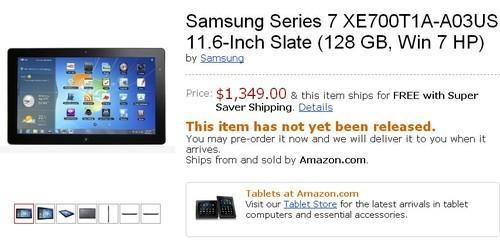 三星Slate7平板国外1349美元开售(图)