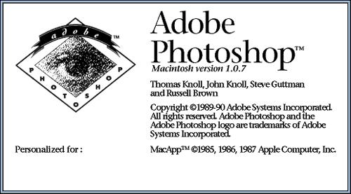 图解:1988-2011Photoshop发展历史回顾