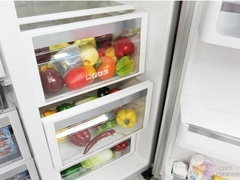 美的红印花冰箱 对开门无霜冰箱热卖