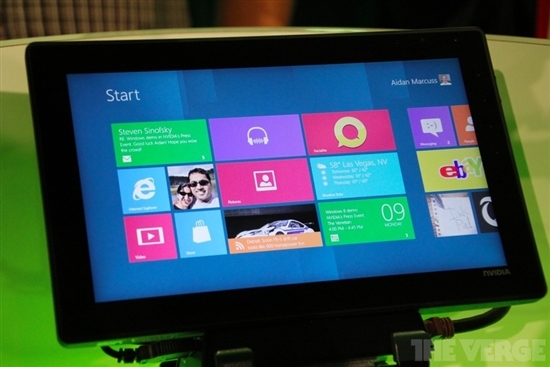 组图:NVIDIAARM架构Windows8平板机