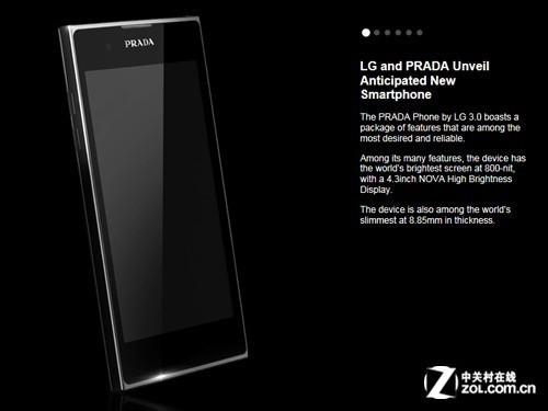 双核1GHz奢华时尚新品 LG Prada3.0评测