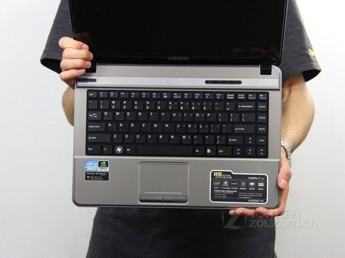 神舟 K480N灰色 键盘面图