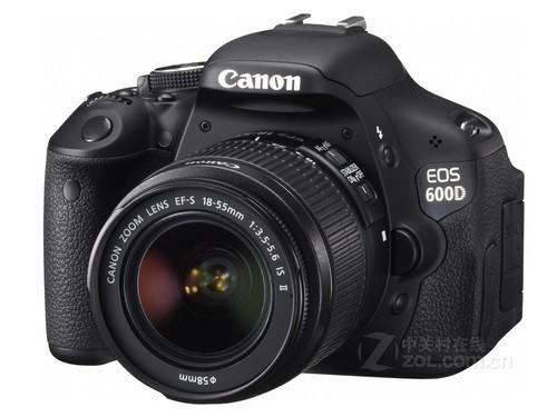 配备防抖镜头 佳能600D套机降至4350元