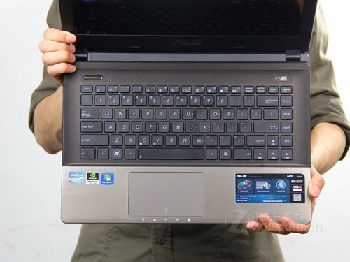 华硕 A45棕色 键盘面图