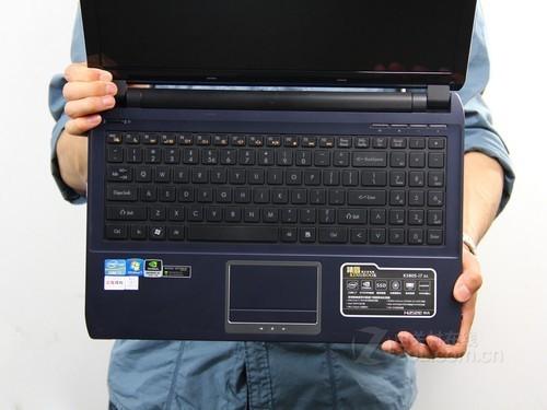 神舟 精盾 K580S蓝色 键盘面图