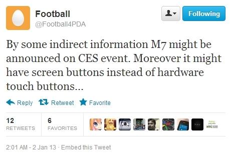 4.7寸全高清骁龙四核 HTC M7或亮相CES