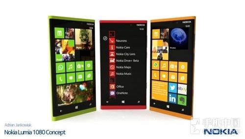 FHD屏四核WP8 Lumia 1080概念图曝光