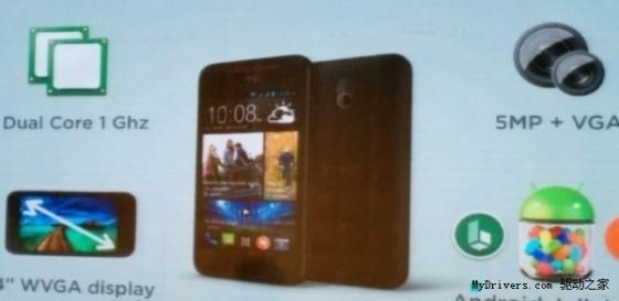 HTC推4寸双核入门新机:899元