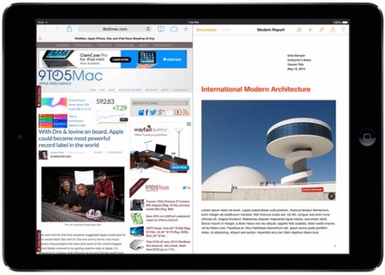 iOS 8将支持分屏多任务 Surface坐不住了