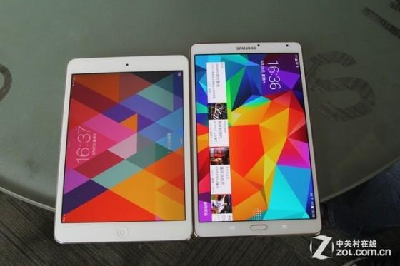 更轻薄 三星GALAXY Tab S对比iPad mini