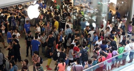 又一城苹果专卖店 香港大公报图