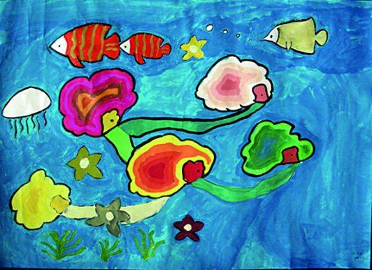 青少年创意设计大赛作品展示:海底生活
