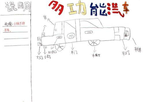 青少年创意设计大赛作品:多功能汽车