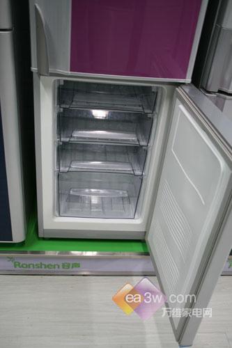 覆膜多彩外观设计容声210升冰箱甩卖