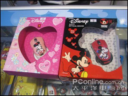 这几款迪斯尼卡通主题鼠标包括米奇,米妮和维尼熊,这些耳熟详细的可爱