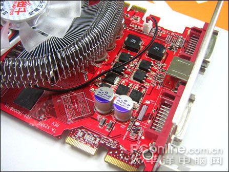 显卡供电部分   虽然是市场上最便宜的hd3690显卡之一,但七彩虹 镭风